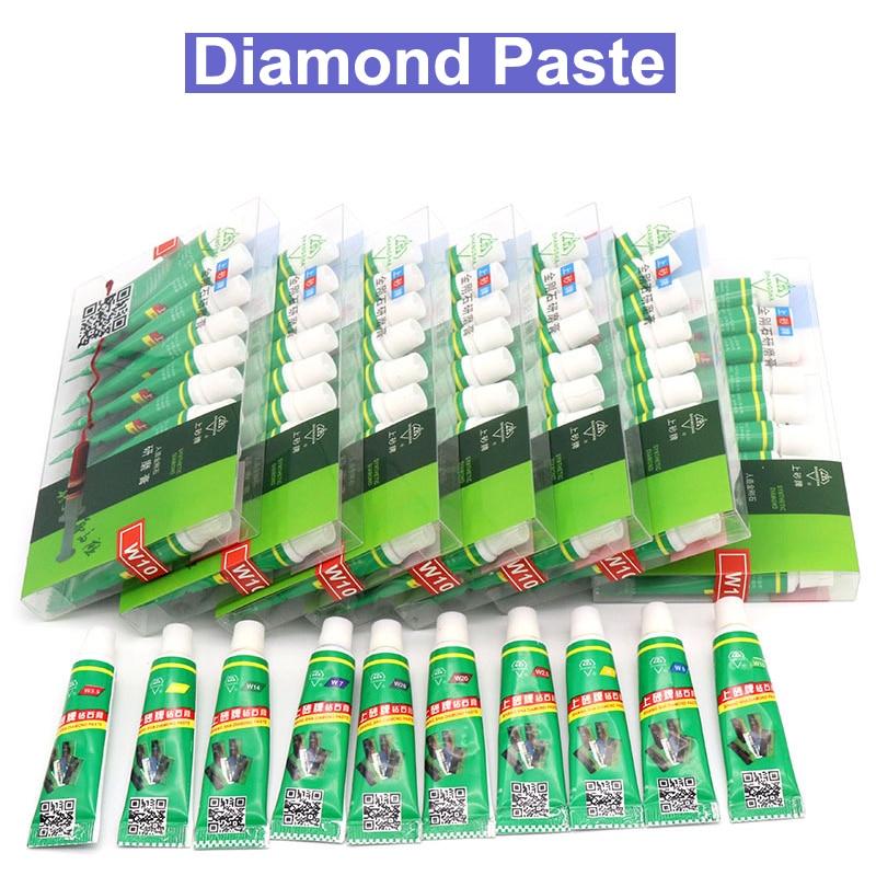 1PCS Diamond Waterborne Abrasive Paste Tube Amber Jade Jewelry Mirror Grinding Polishing Paste Lapping Compound Mesh 320-10000