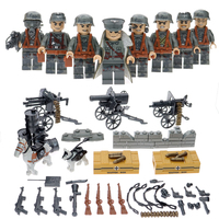 4Pc Set Classic WW2 Military Series Block Figure Soviet Union Blitzkrieg War Scene Model With Weapons