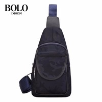 BOLO Men Single Shoulder Camouflage Bag Crossbody Casual Male Bag Oxford Cloth Mens Bags With Adjustable