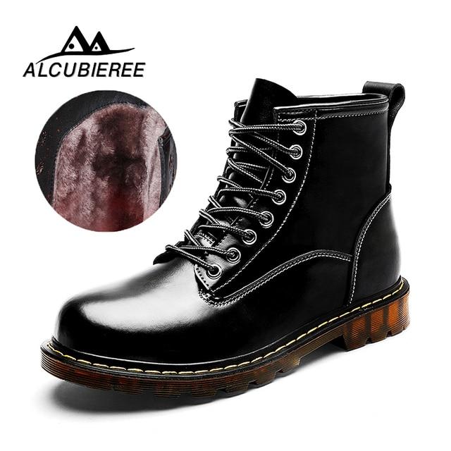 673c808789813 Fashion Men Winter Shoes Solid Color Fur Snow Boots Plush Inside Antiskid  Bottom Keep Warm Waterproof Ski Boots Big Size 38-47