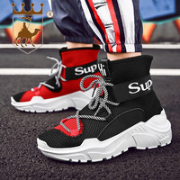 BACKCAMEL Autumn winter high top couples thick soled sneakers fashion casual sets feet men women shoes Men's Vulcanize Shoes