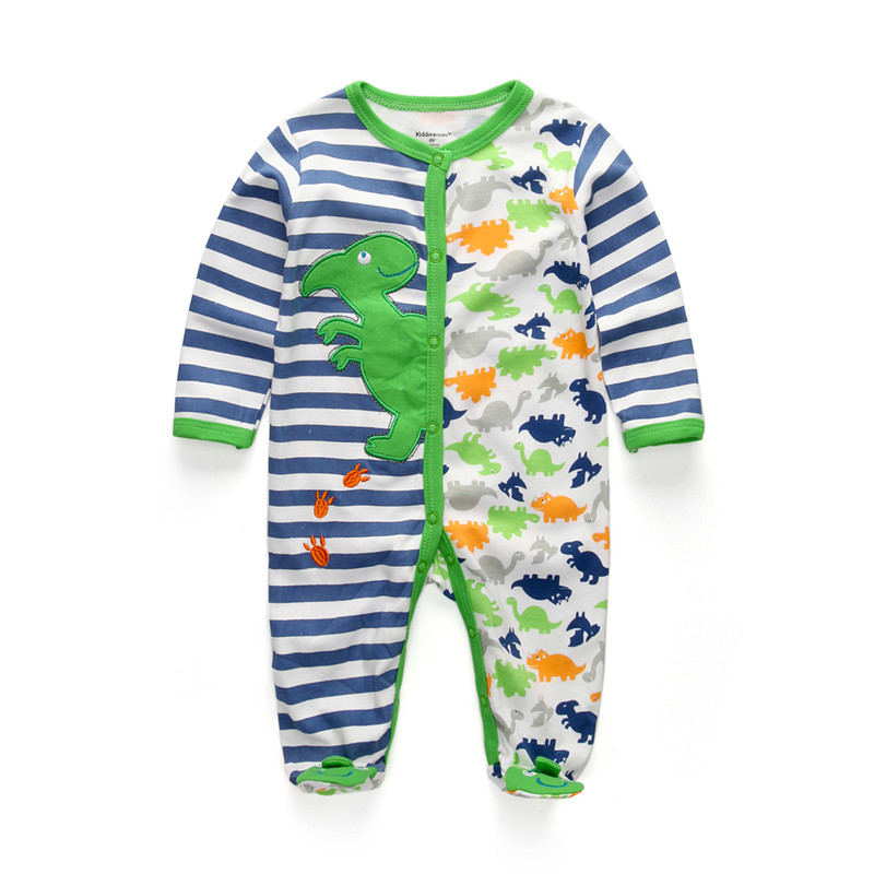 Newborn Dinosaur Clothes Baby Boy  Infant Wear use Soft Cotton Romper Overalls Baby Rompers Clothing for New Girl Clothes 0-12M cotton baby rompers set newborn clothes baby clothing boys girls cartoon jumpsuits long sleeve overalls coveralls autumn winter
