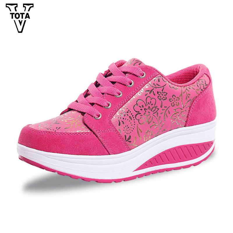 VTOTA Fashion Casual Lose Weight Shoes Woman Breathable Swing Women Shoes Height Increasing Multicolor Walking Wedges Ladies JX hot height increasing 2016 summer shoes women s casual shoes sport fashion walking shoes for women swing wedges shoes breathable