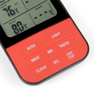 Image 2 - BBQ Meat Thermometer, Wireless Digital Cooking Thermometer with 2 Probe Port for Smoker Grilling Oven Kitchen