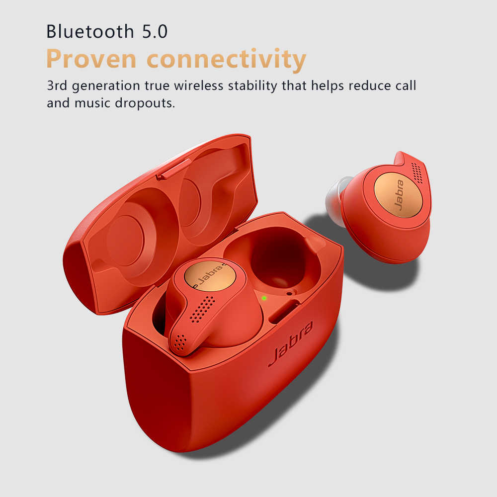 Jabra Elite Active 65t Alexa Enabled True Wireless Sports Earbuds With Charging Case Copper Red Aliexpress