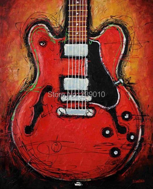 ღ ƹӝʒ ღücretsiz Kargo Gitar Yağlıboya Tuval Baskılar