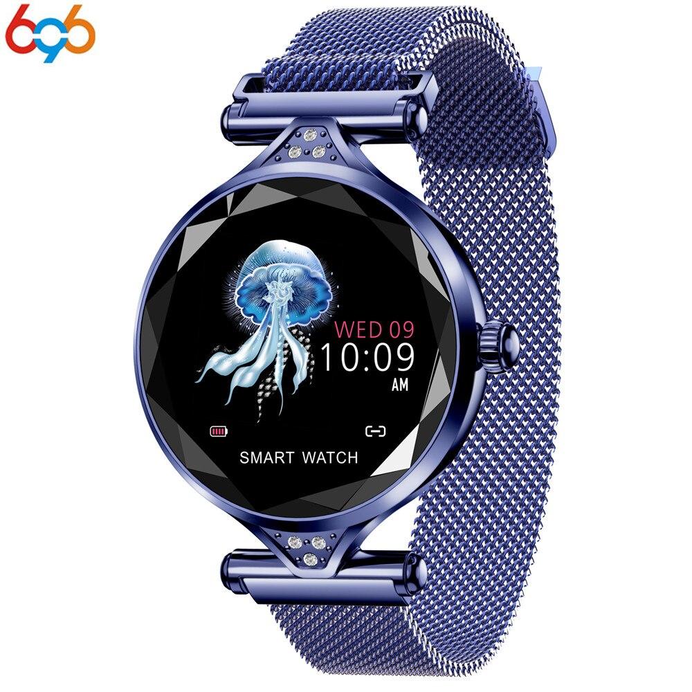 696 T88 montre intelligente femmes mode moniteur de fréquence cardiaque Smartwatch dame cadeau Fitness Bracelet podomètre pour IOS Android téléphone PK S3
