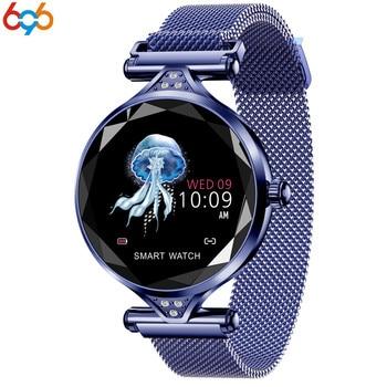 Reloj inteligente T88 de 696 para mujer, moderno Monitor de ritmo cardíaco, reloj inteligente para mujer, regalo para mujer, pulsera de Fitness, podómetro para IOS, teléfono Android PK S3
