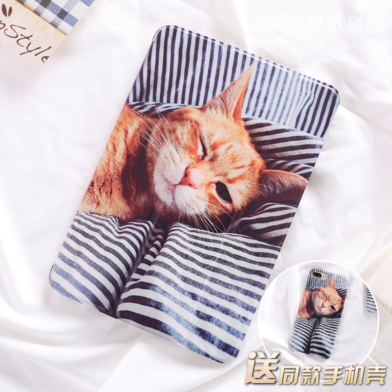 Cartoon Cute Cat Flip Cover For iPad Pro 9.7 10.5 Air Air2 Mini 1 2 3 4 Tablet Case Protective Shell For New iPad 9.7 2017 cartoon cute cat flip cover for ipad pro 9 7 air air2 mini 1 2 3 4 tablet case protective shell for new ipad 9 7 2017