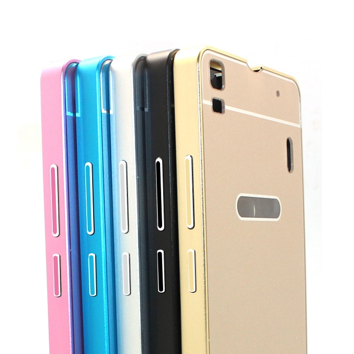 new products 4e693 0e7bf US $5.99 |Original Lenovo K3 note Protective Metal Bumper back case cover  for lenovo K3 note black silver gold pink blue colors in stock on ...