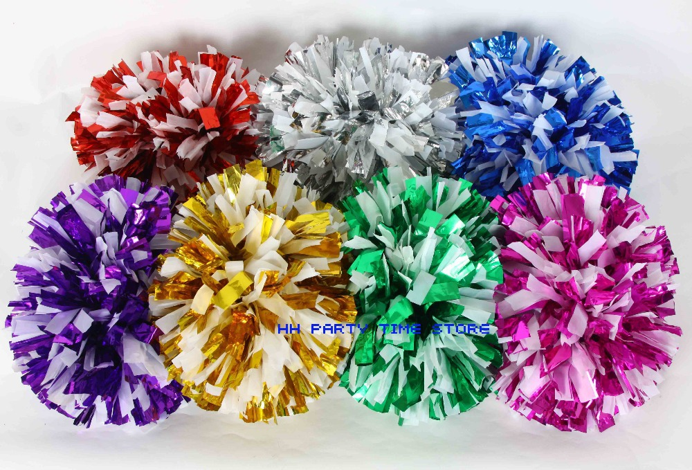 cheerleader poms Game Pom Poms Cheerleading Pompoms Cheer Majorettes Hand Balls Sports baton handle