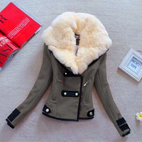 Hot sale New Fashion Plus Size S XXL Zipper Slim Solid Coat Jacket Women Woollen Casual Jacket Winter Autumn B070