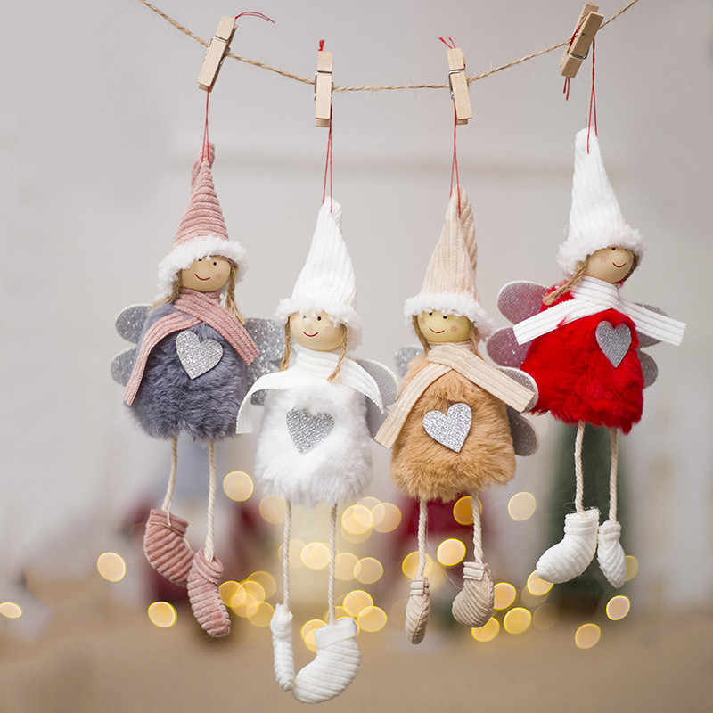 New Cute Santa Claus Snowman Doll Ornaments Pendants Christmas Tree Hanging Decoration Home Wedding Xmas Party Decor 62336