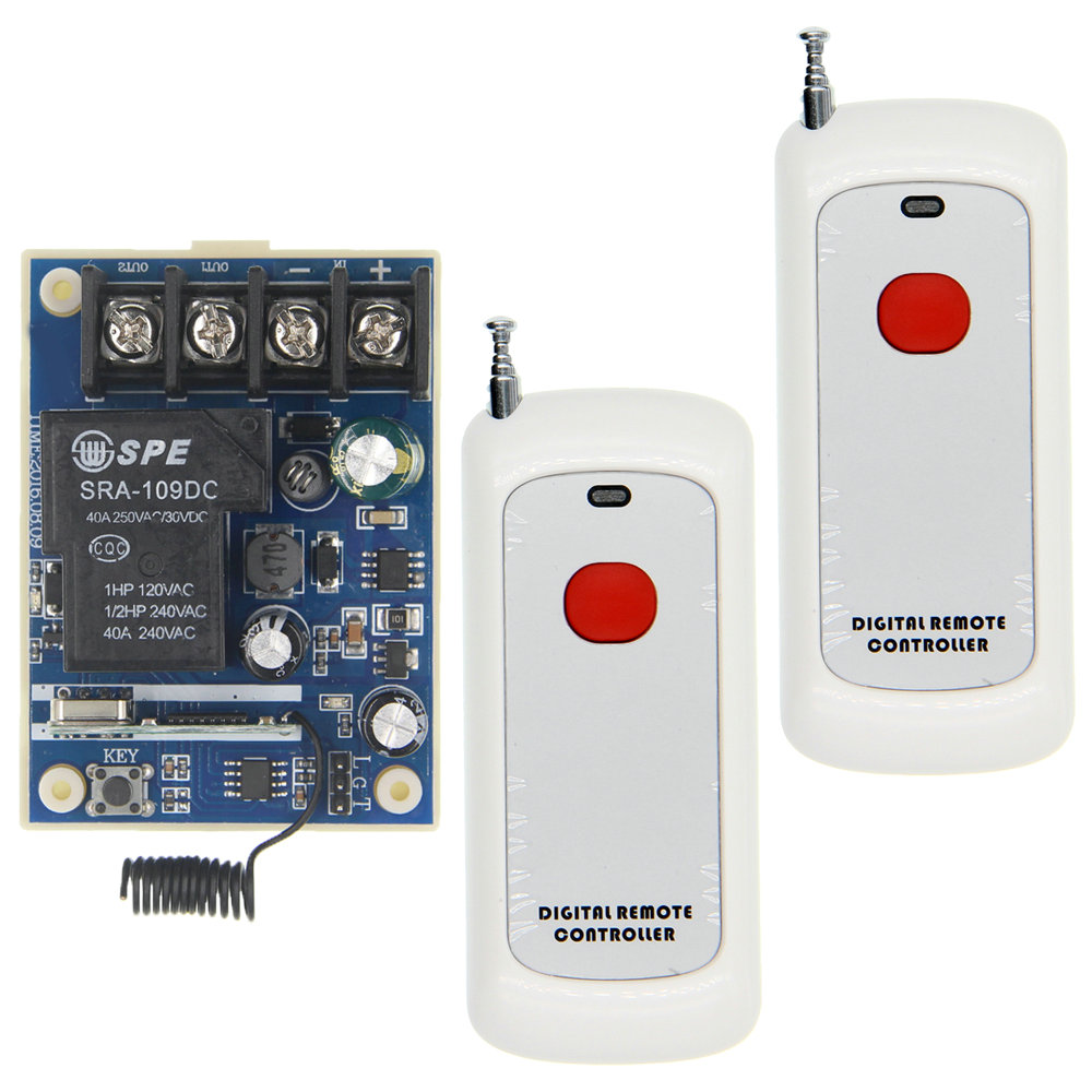 500m High Power DC 12V 24V 36V 48V 30A 1 CH 1CH RF Wireless Remote Control Switch System Receiver+Transmitter, 315 433.92 MHZ 12v 8ch power switch rf wireless remote control system transmitter
