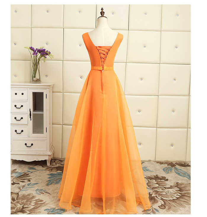 95d0de0930 modest orange tulle ball gown long fluffy v neck girls party prom dresses  teens dress for special occasion sparkly H4121