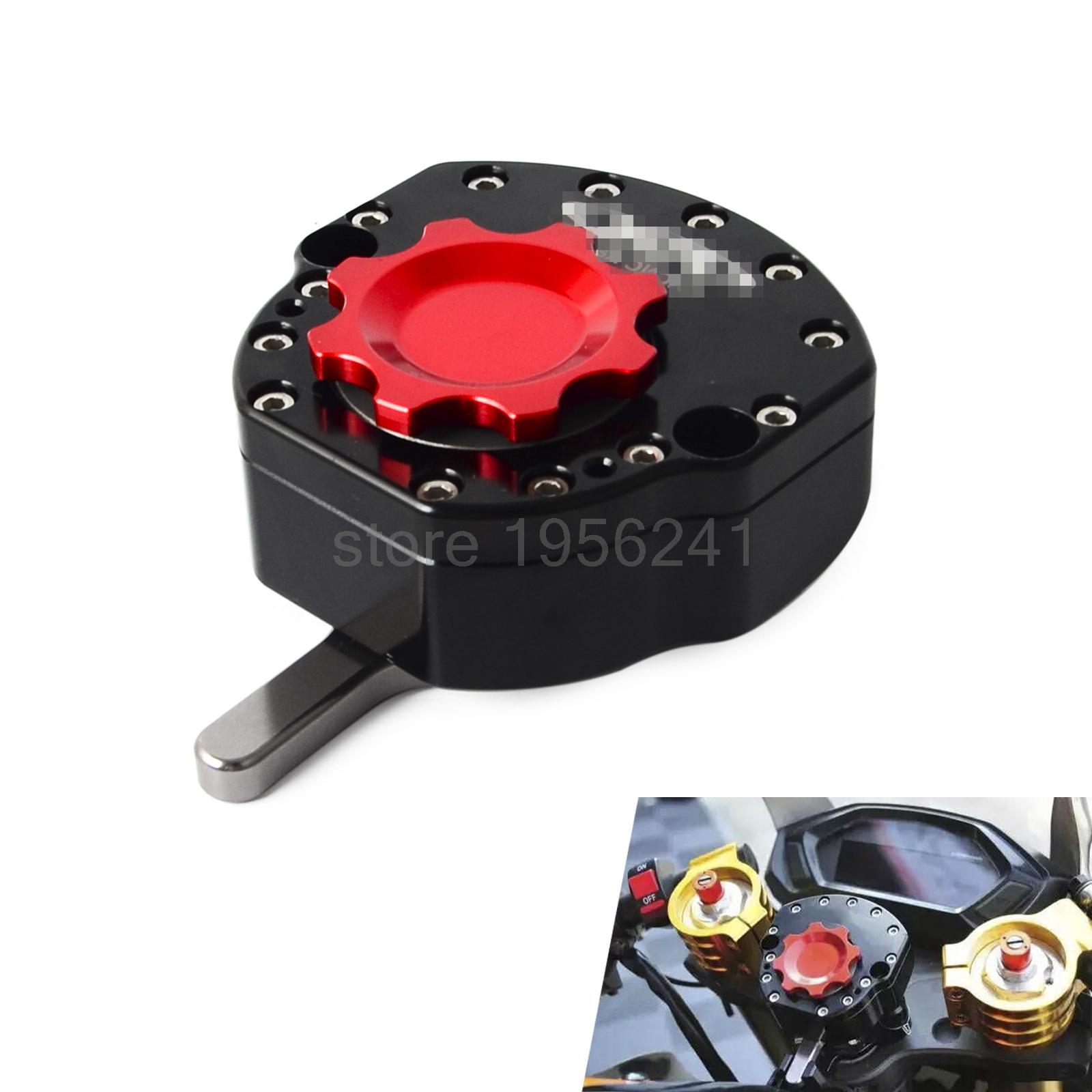CNC Steering Stabilizer Damper For Kawasaki EX250R Ninja 08-12 EX300R 13-15 ZX636 13-14 ZX6R ZX-6R 07-12 ZX10R ZX-10R 04-13