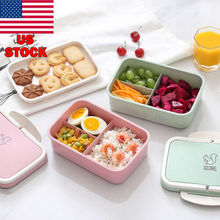 Microwave Bento Lunch Box Picnic Food Fruit Container Storage Box For Kids Adult