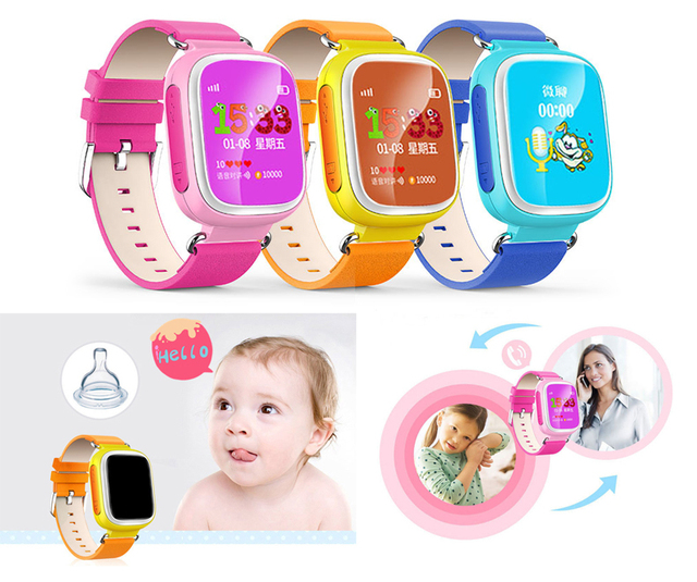 Original Baby gps watch kids Q80 Smart Watch Tracker Wristwatch SOS Call Location Finder Device Safe Anti Lost PK Q50 Q60 Q90