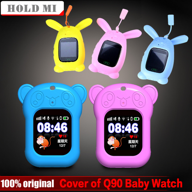 1 Pcs סיליקון ילדי של חכם שעון Q90 מגן כיסוי חמוד קריקטורה דוב ארנב תליון מגן כיסוי עבור Q90 תינוק שעון