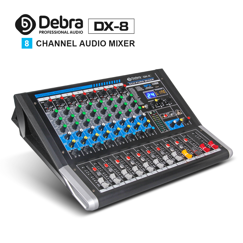 Dj-equipment Professionelle Audiogeräte Mutig Debra Audio Dx-8 8-kanal Audio Mixer Dj Controller Sound Board Mit 24 Dsp Wirkung Usb Bluetooth Xlr Jack Aux Eingang