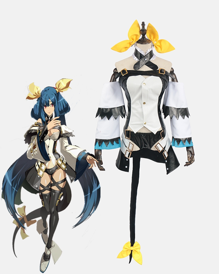 Guilty Gear GGXX GGXRD Dizzy cosplay costume party dress Hallewoon uniform PU leather Free Shipping custom made 2018 guilty gear xrd sign dizzy uniforms cosplay costume custom made