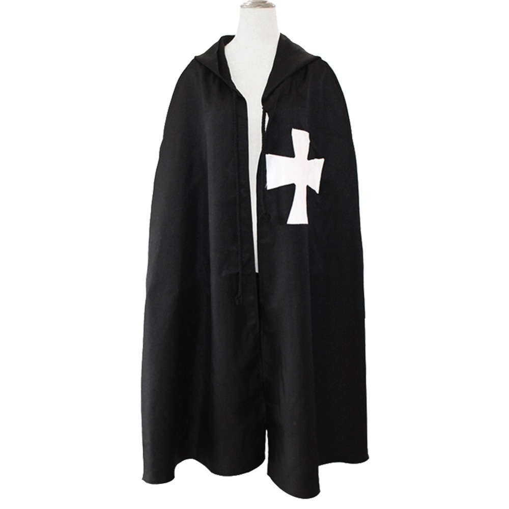 Medieval Renaissance Costume Adult Men Warrior Knight Templar Cloak of the Roman Empire Coat Halloween Carnival Costumes