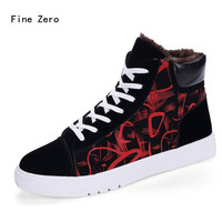 Fine Zero Men Winter Super Warm Heavy Fur Plush Snow Boots Male Motorcycle Boots Male Casual