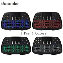 Docooler Backlit 2.4GHz Wireless Keyboard Touchpad Mouse Handheld Remote Control 4 Colors Backlight for Android TV BOX Smart TV