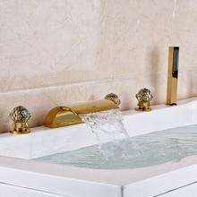 Große Förderung Beste Qualität Günstigste Preis Badewanne Deck Montiert Dusche Wasserhahn Messing Gold