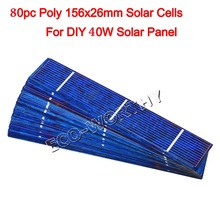 ECO-worthy Solar Cell Cells PV Poly Mono Powerful for DIY 12V Solar Panel