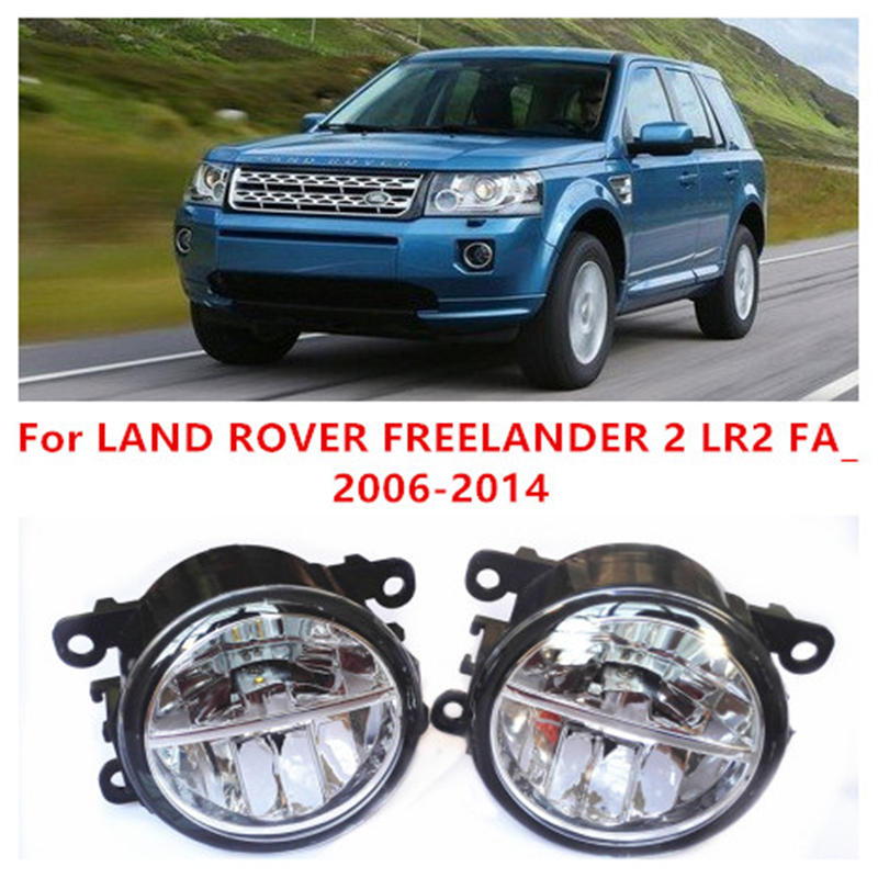 For LAND ROVER FREELANDER 2 LR2 FA_   2006-2014 Fog Lamps LED Car Styling 10W Yellow White 2016 new lights for land rover freelander discovery range rover sport ls 2006 2014 car styling 55w fog lights general halogen lamps 1set