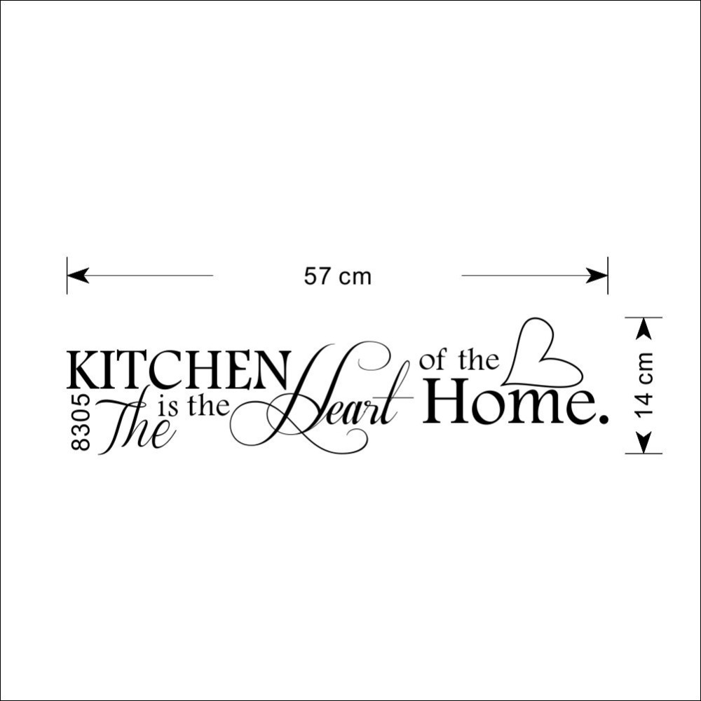 Nueva cocina es corazón de la letra para el hogar pegatina para pared con patrón de PVC extraíble, decoración del hogar DIY, MURAL de arte de pared