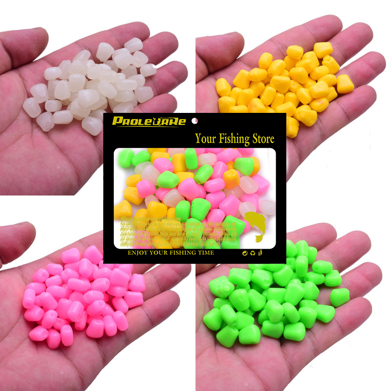 100pcs/lot Colored Pop Up Carp Fishing Boilies Flavoured Grass Carp Bait Floating Corn Soft Pellet lure 0.4g/pcs PRO-331