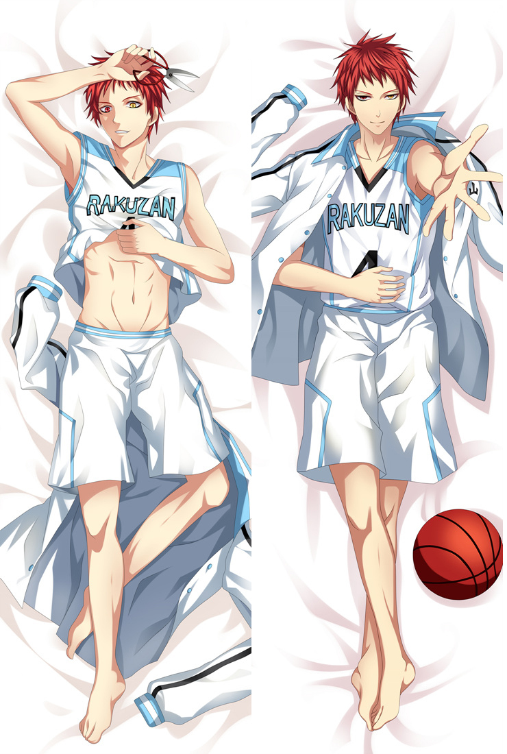 Japanese Anime Kuroko No Basuke Akashi Seijuro Male Hugging Body Pillow Cover Case BL Q13