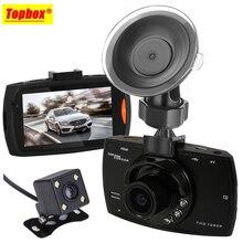 Две Камеры Автомобильный ВИДЕОРЕГИСТРАТОР Камера Даш Cam 1080 P G30 HD Video Recorder Регистратор С Резервного Копирования Камера Заднего Вида Ночного Видения водонепроницаемый