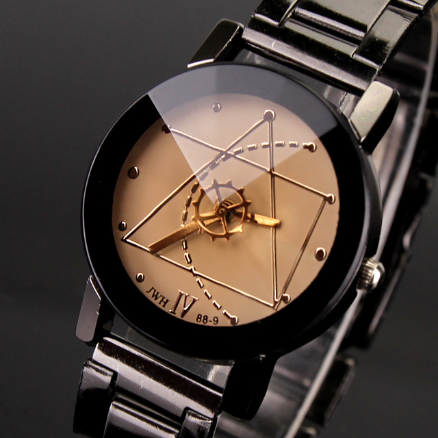 2018 New Fashion Luxury Watch Creativity Engraving Hollow Stainless Steel Watch