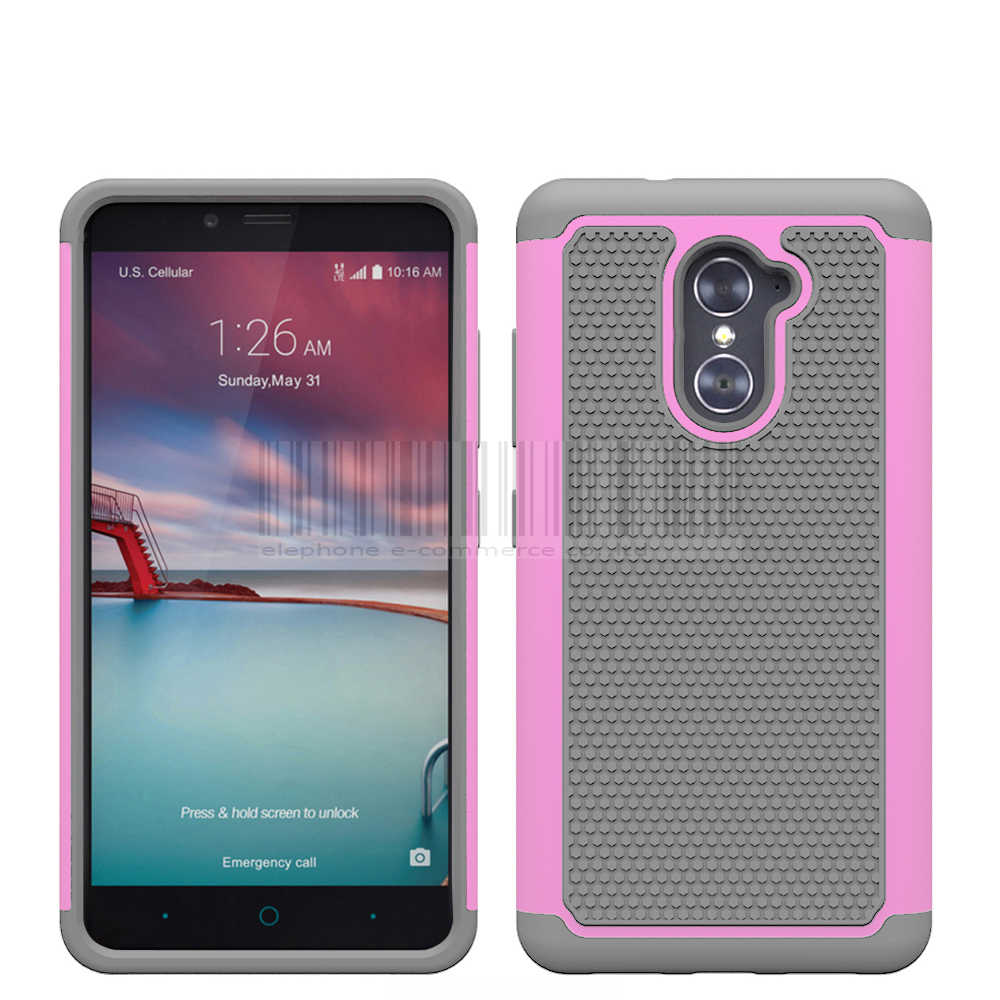 the latest 4005a 8aa7e Phone Case For ZTE Imperial Max Z963U/MAX DUO 4G LTE/ZTE Grand X Max 2  Anti-shock PC+Silicone Hybrid Armor Protective Case Cover