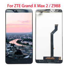 Complete lcd For ZTE Grand X Max 2 Z988 LCD Display And Touch Screen Digitizer Assembly  6.0 Inches for zte grand x max z987 lcd replacement lcd display touch screen digitizer frame complete assembly parts 987 plus tools