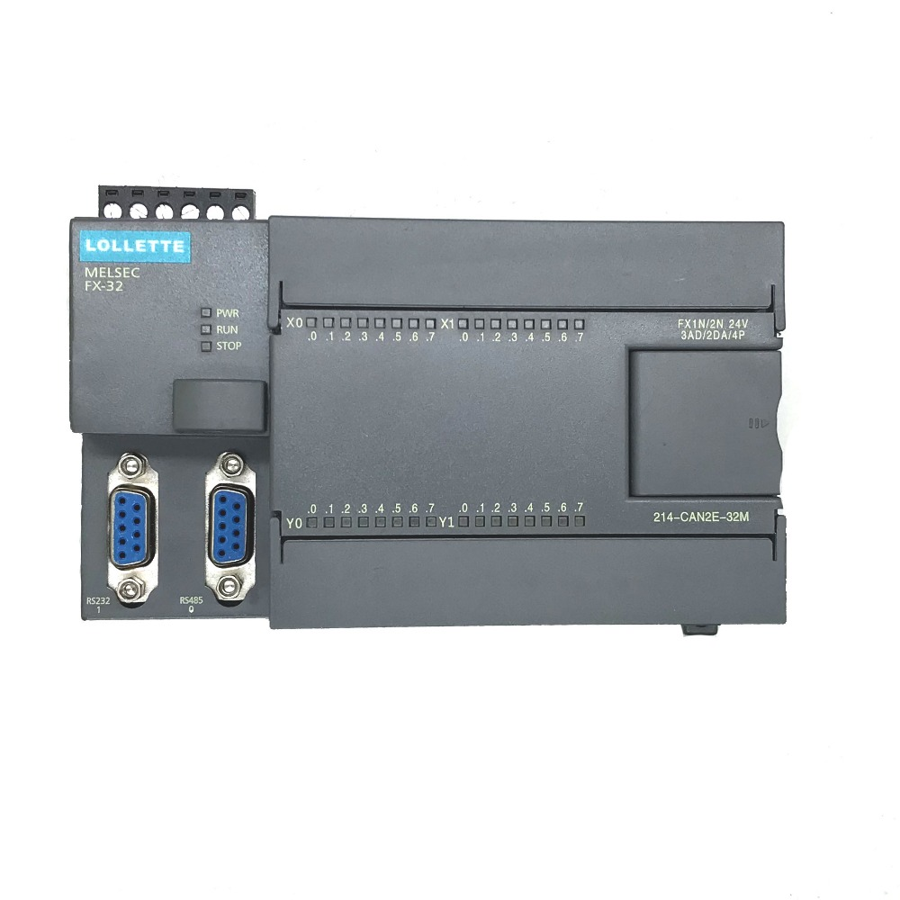 FX1N FX2N 32MR 3AD 2DA PLC Controller 16DI 16DO, RS485 Modbus RTU for GX fx1n fx2n fx3u 40mt 24di 16do 2ad 2da analog for plc rs485 modbus 4 axis high speed pulse 100khz output stepper motor