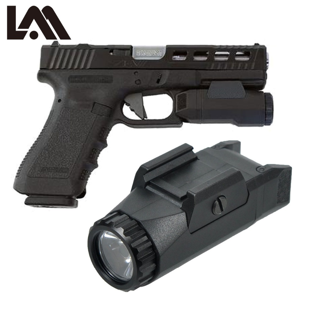 LAMBUL APL Pistol Scout Light Constant / Momentary / Strobe Flashlight LED Glock Weapon Light 400 Lumens Hunting Streamlight 2018 compact weapon mounted white light for glock full size pistol light 400 lumens tactical hunting apl g3