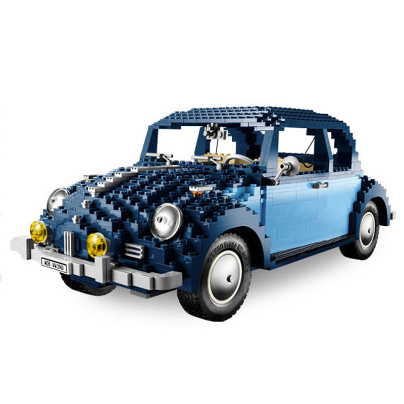 LEPIN 21014 1707pcs Technic Series The Ultimate Beetle Model Building Block Diy Brick Educational Toy For children Gift 10187 new lepin 21003 series city car beetle model educational building blocks compatible 10252 blue technic children toy gift