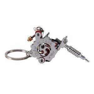 Image 3 - Porte clés Mini Machine à tatouer Portable, outils de tatouage, porte clé de Style Punk, ornement en pendentif, pour hommes et femmes, artisanat cadeau, 1 pièce