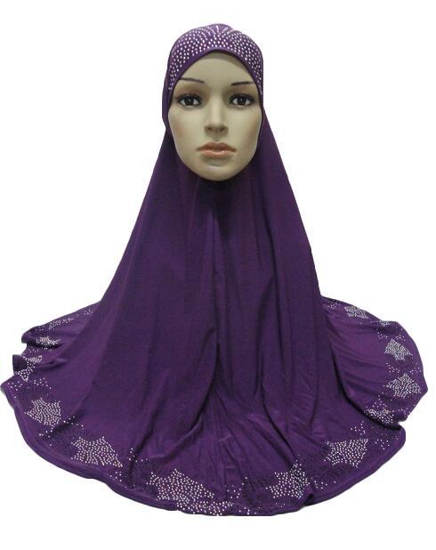 Image 4 - One Piece Hijab Scarf Muslim Amira Prayer Khimar Hat Women  Islamic Headwear Overhead Turban Headscarf Full Cover Worship  ServiceIslamic Clothing