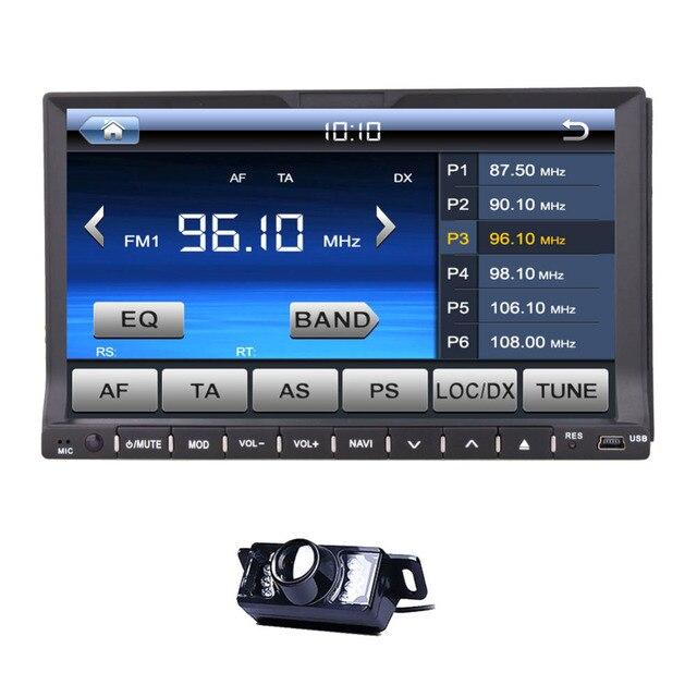 """2 Din DVD de voiture autoradio livraison caméra 7 """" HD écran tactile numérique, Rds, Fm AM Radio avec Bluetooth USD / SD"""