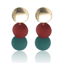ECODAY Geometric Metal Earrings for Women Gold Color Statement Oorbellen Pendientes Brincos Earings Fashion Jewelry