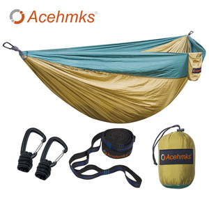 Image 1 - Acehmks Aluminum Alloy Snap Hammocks For 2 Person Sleeping Bed Outdoor Camping Swing Portable Ultralight Design 300*200 CM
