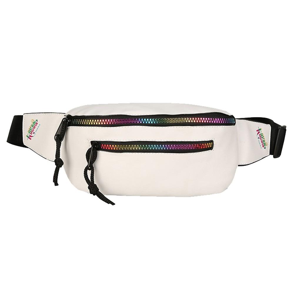 2018 Unisex Outdoor Sport Solid Oxford Cloth Waist Bag Fanny Pack Belt Bag Travel Purse Waist Bag Green