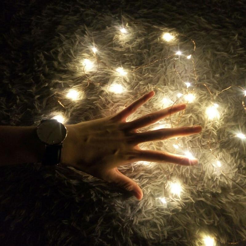Splevisi 1pc 7ft Cr2032 Cell Battery Operated 2m 20led String Light Waterproof Led Fairy Light For
