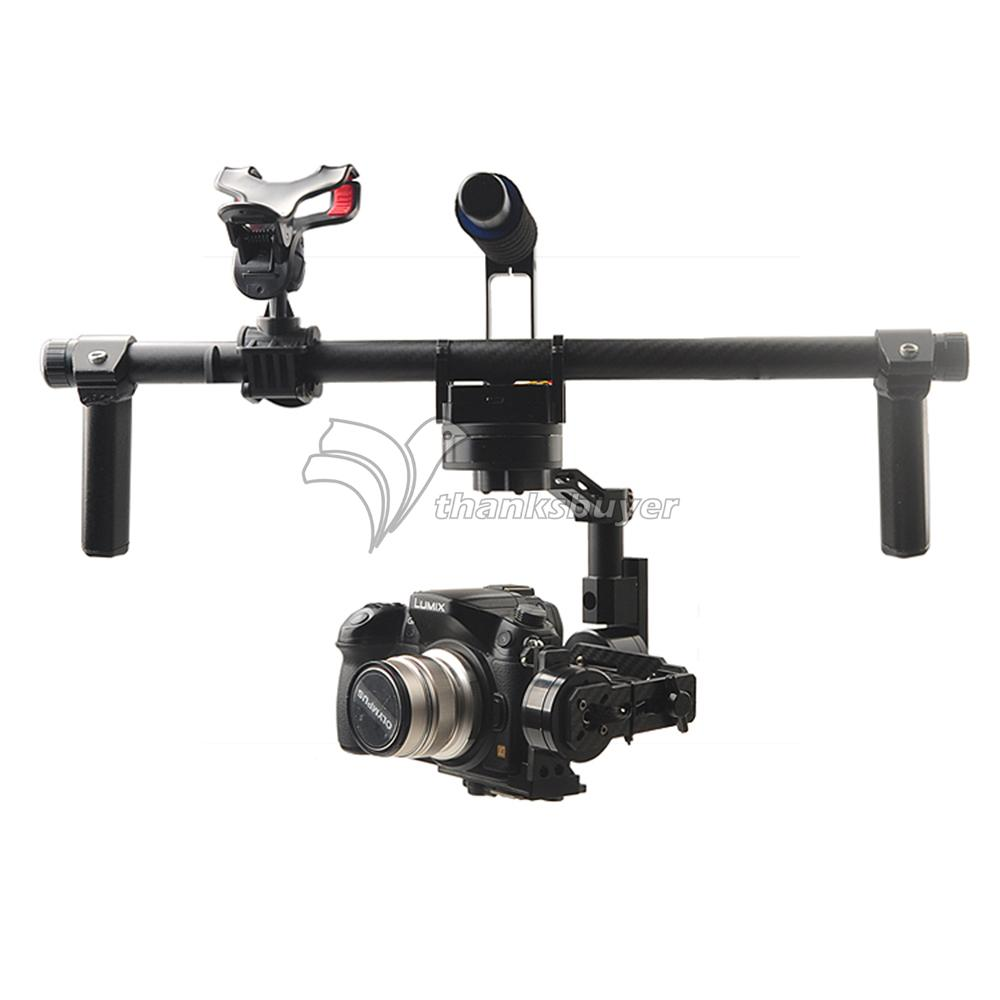 HG3D Handheld Mini DSLR 3 Axis Brushless Gimbal Camera Mount PTZ for GH3 GH4 NEX5 A5000