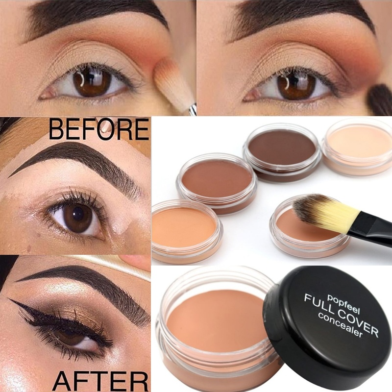 1Pc Women Concealer Palette Makeup 5 Colors Cream Professional Face Eye Base Palette Facial Eye Eyebrow Primer Make Up Cosmetics image